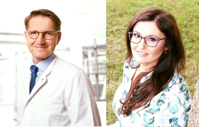 Die Referenten Gynäkologe Dr. Winfried Munz und Hebamme Ramona Throm