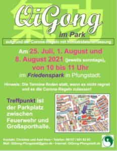 Flyer QiGong im Park